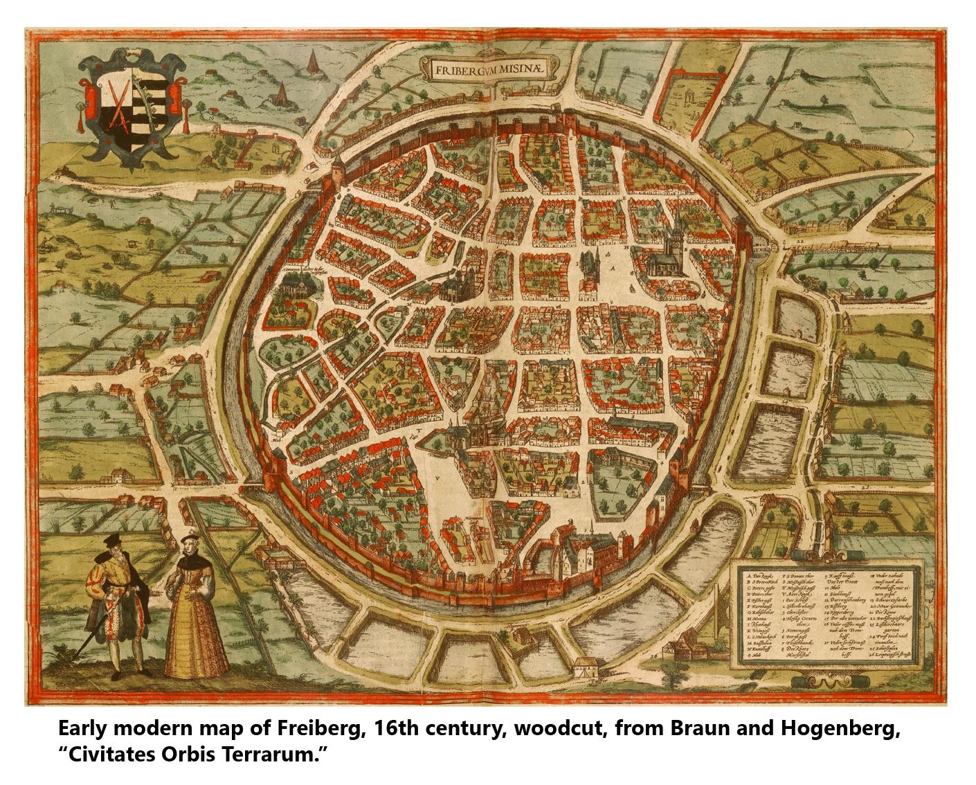 Map of Freiberg