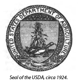 Seal of the USDA from 1924