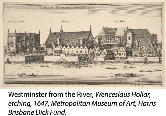 Westminster from the River by Wenceslaus Hollar